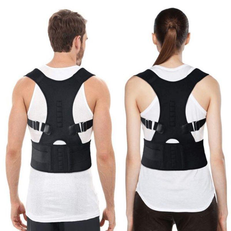 Correcteur De Posture magnétique réglable Corset ceinture arrière soutien lombaire correcteur droit De Espalda