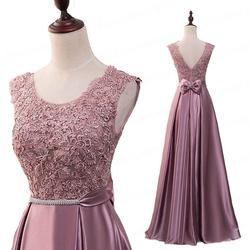 Popodion Evening Dress Long 2020 Appliques Banquet Party Dress for Wedding Party Satin Prom Dressesvestido de festa
