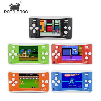 DATA FROG Portable Game Console 2.5 Inch Handheld Game Player Built In 89 No Repeat Classic Games Consoles Best Gift For Kids