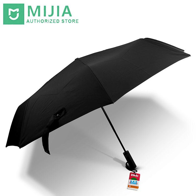 Original nouveau Xiaomi Mijia parapluie automatique ensoleillé pluvieux aluminium coupe-vent imperméable UV homme femme été hiver