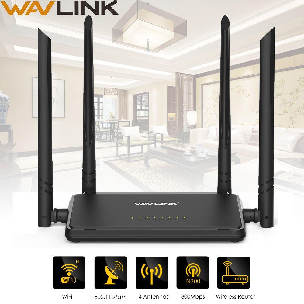 Wavlink N300 300 Mbps Sans Fil Smart Wifi Routeur Répéteur Point D'accès avec 4 Antennes Externes Bouton WPS IP QoS Vitesse 2 Rapide