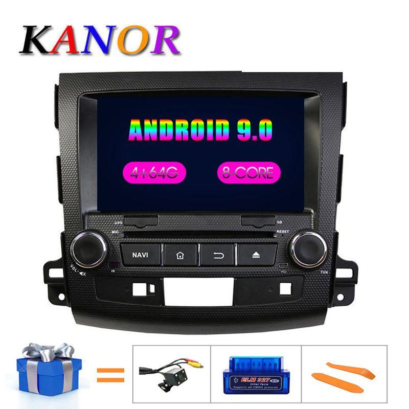 KANOR IPS RAM 4g Octa Core Android 9.0 2din autoradio pour Mitsubishi Outlander 06-12 Headunit GPS Navigation 2 Din autoradio