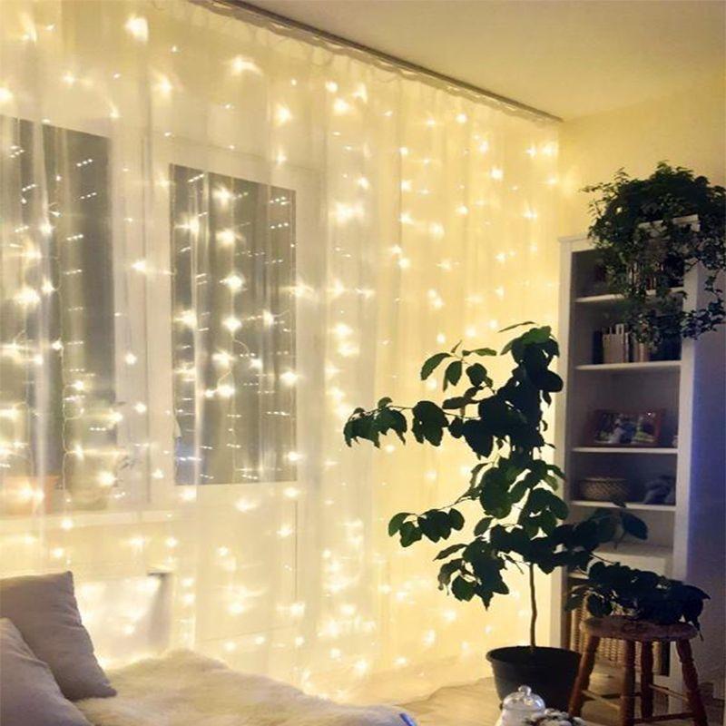 2X2/3X1/3x3/6x3 guirlande LED fée chaîne lumière noël LED fête de mariage fée lumières guirlande pour la maison rideau fenêtre décor