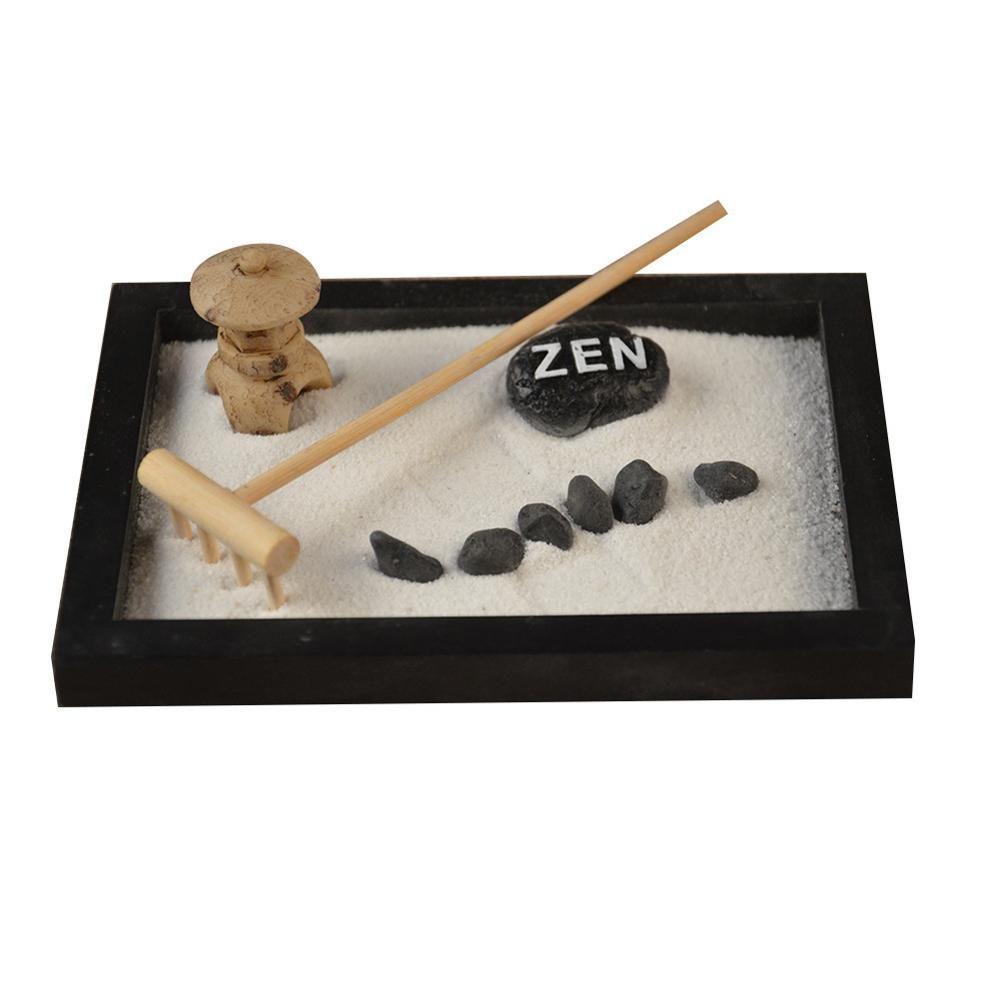 Minutieusement Statue bouddha Zen jardin sable méditation paisible Relax décor ensemble spirituel Zen jardin Kit décoration ensemble