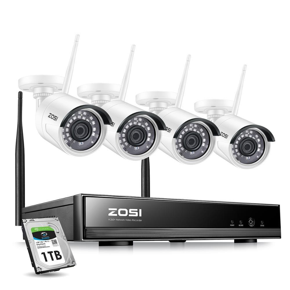 ZOSI 8CH 1080P HD WiFi NVR 2CH/4CH 2.0MP IR extérieur résistant aux intempéries CCTV sans fil caméra IP sécurité système de Surveillance vidéo Kit