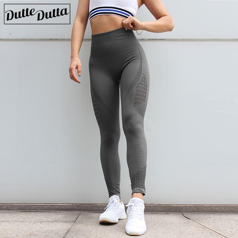 2019 nouveau Sexy taille haute énergie Leggings sans couture pousser Sport Leggings Sport femmes Fitness en cours d'exécution Yoga pantalon gymnastique fille legging