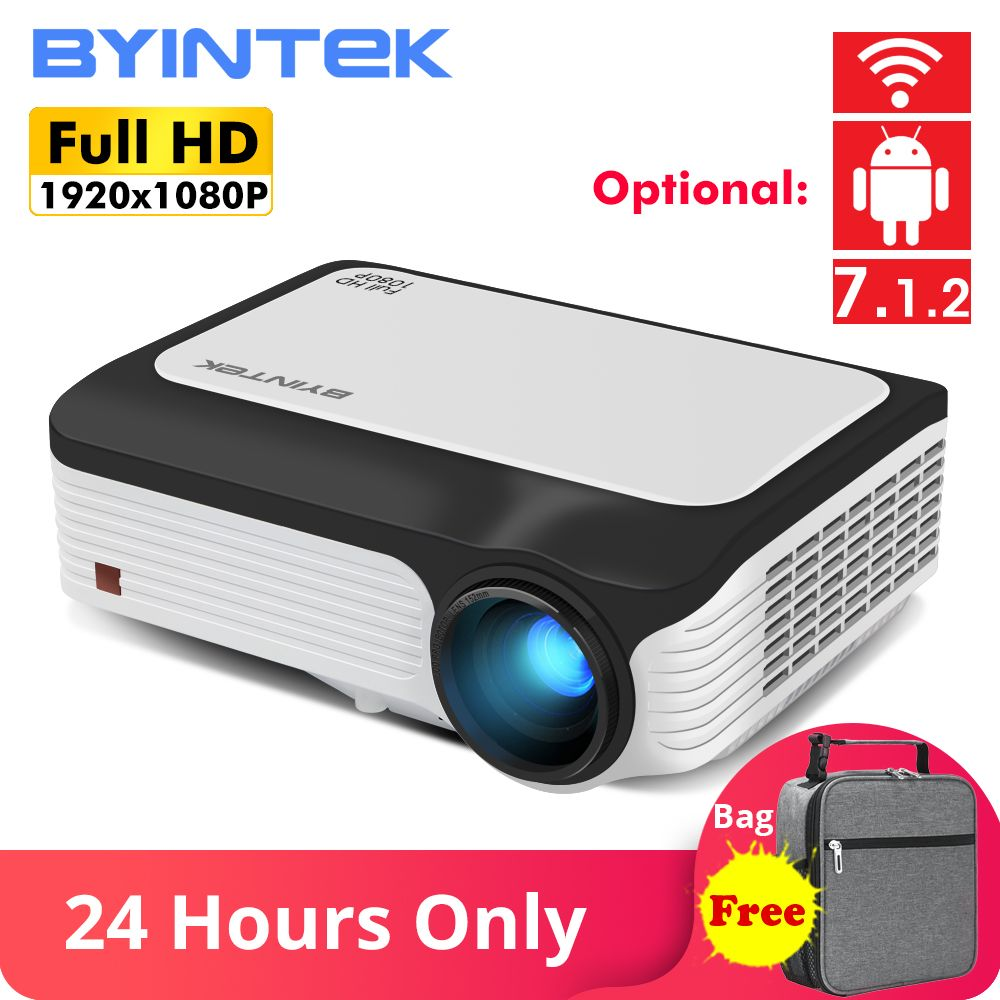 BYINTEK M1080 Smart (2GB + 16 GB) android WIFI FULL HD 1080P Tragbare LED Mini Projektor 1920x1080 LCD Video Für Iphone Für Netflix