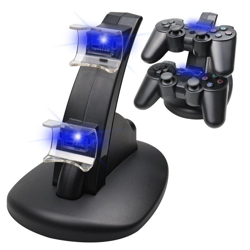 Double chargeur pour PS3 support de quai de charge + câble USB pour Sony PlayStation 3 Console de contrôleur livraison gratuite