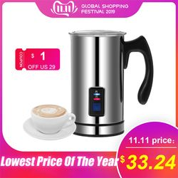 Homgeek Stainless Steel Automatic Electric Milk Frother Machine Heating Milk Warmer Coffee Maker Latte Cappuccino Machine