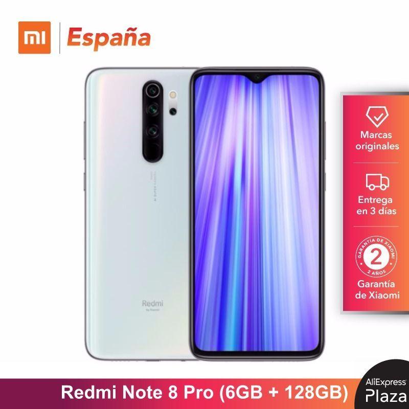 Xiaomi Redmi Hinweis 8 Pro (128GB ROM, 6GB RAM, Cámara de 64 MP, android, Nuevo, Libre) [Teléfono Movil Versión Globale para España