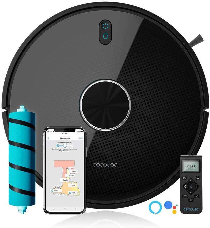 Cecotec Roboter Staubsauger Conga Serie Intelligente und Leistungsstarke für Home mit Laser iTech 360 APP Geplant Route Alexa