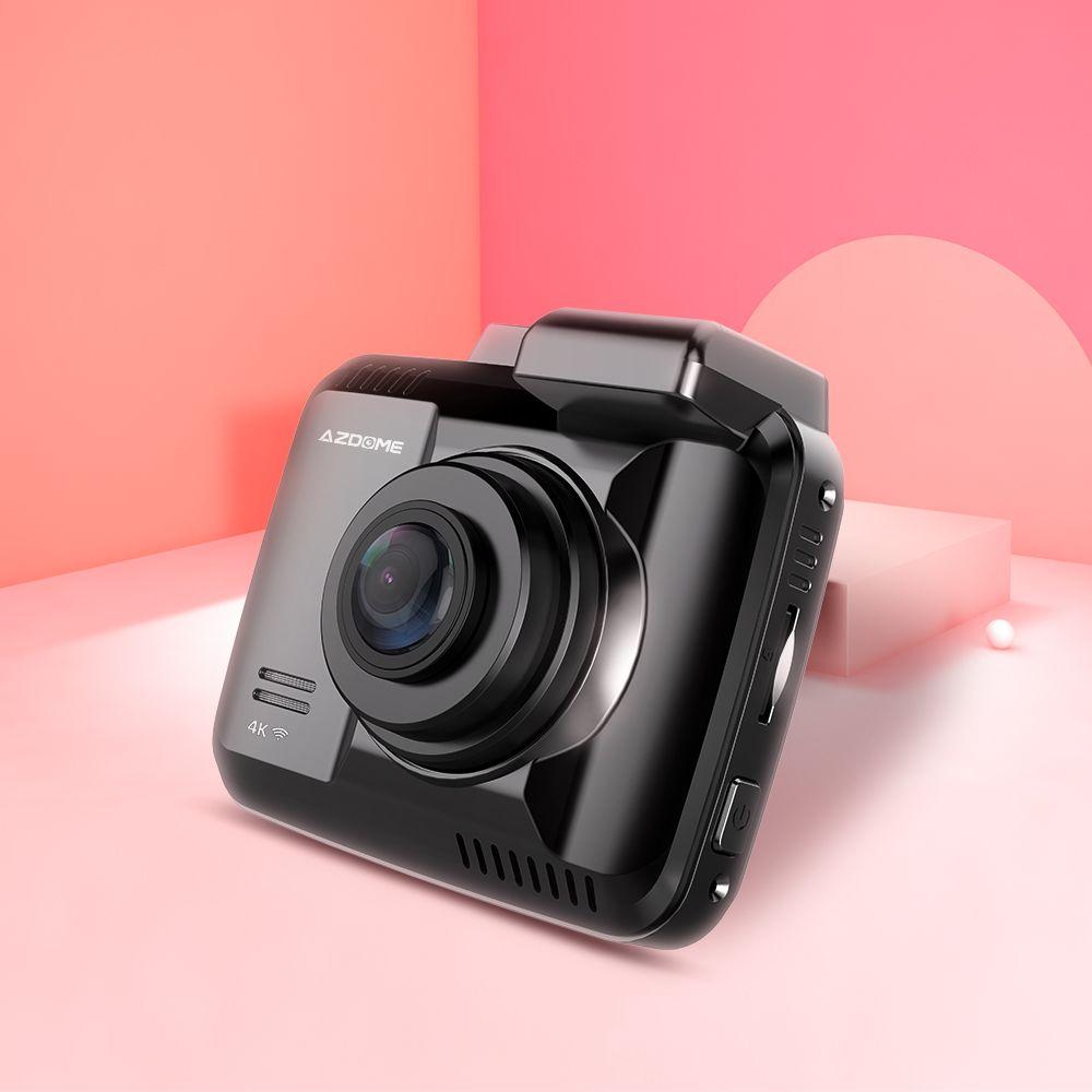 AZDOME Dash Cam GS63H 4K intégré GPS vitesse coordonnées WiFi DVR double lentille voiture caméra tableau de bord caméra Vision nocturne Dashcam 24H parc