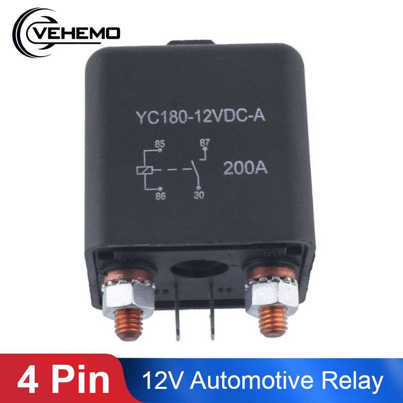 Vehemo 12V 200A relais 4 broches pour voiture Auto résistant installer Split Chargeover