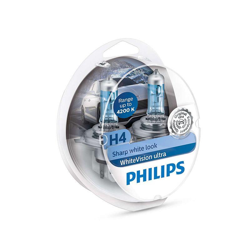 PHILIPS 12342WVUSM H4 12 V-60/55 W (P43t) (absolut weiß licht) whiteVision Ultra (N. pack 2 stücke) 59251