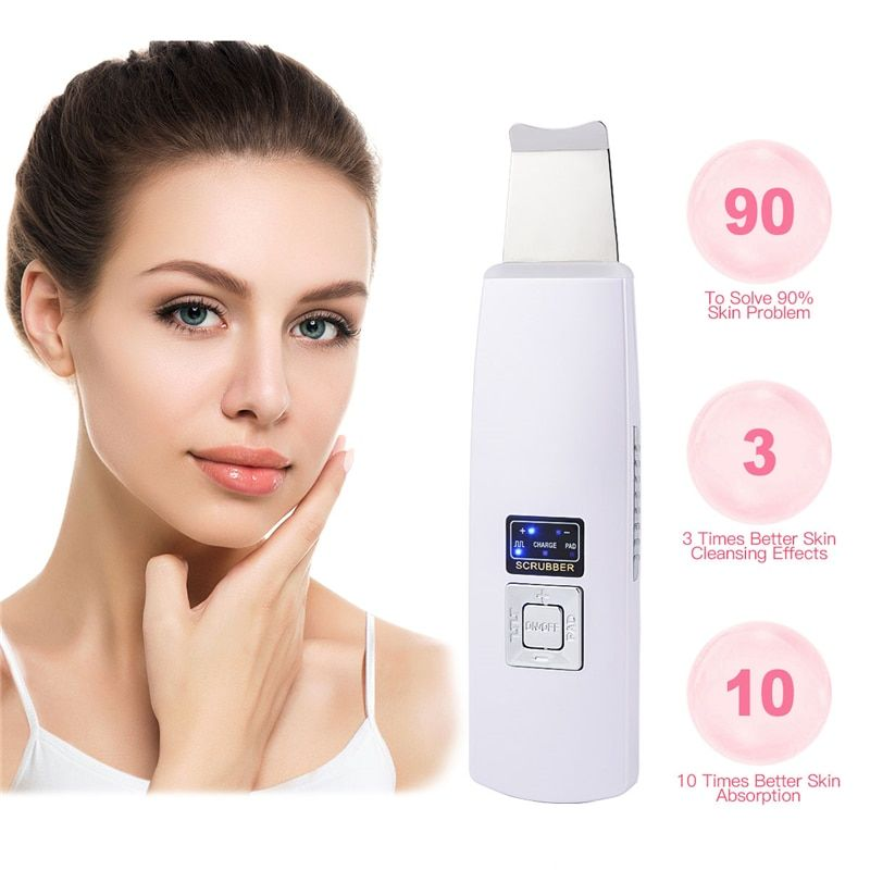Machine de nettoyage de visage profonde à ultrasons épurateur de peau enlever la saleté points noirs réduire les rides et les taches levage de blanchiment du visage
