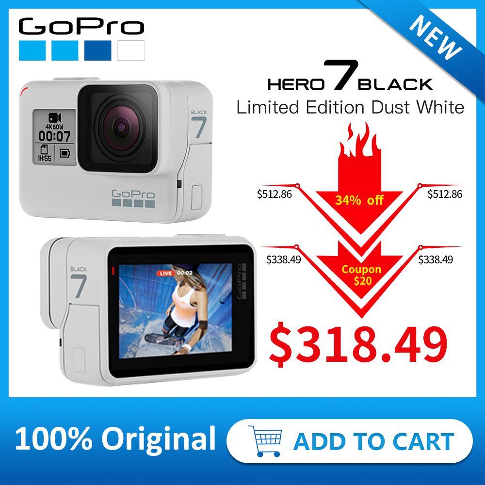 GoPro HERO7 Schwarz (Limited Edition Dämmerung Weiß) wasserdichte Action Kamera 4 K 60fps 1080 P 240fps video Gehen Pro Sport cam 12MP Foto