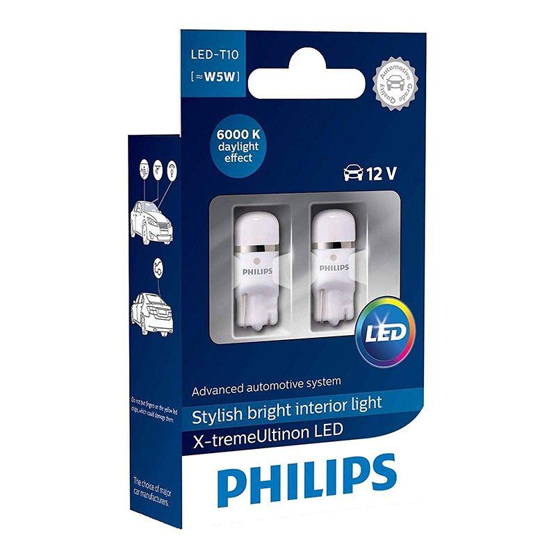 PHILIPS 127996000KX2 W5W 12V-LED 1,0W (W2, 1x9 5d) 6000K X-tremeVision 360 WBT10 (K. pack. 2 stücke) 38935