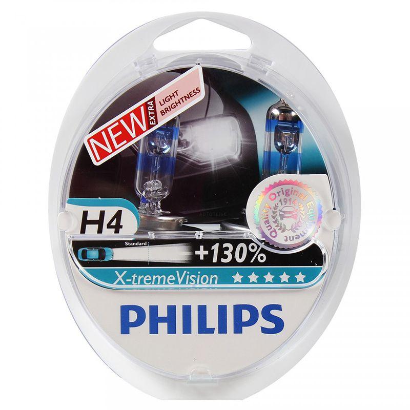 PHILIPS 12342XV + S2 H4 12 V-60/55 W (P43t) (+ 130% licht) x-treme Vision (2 stücke) 37668