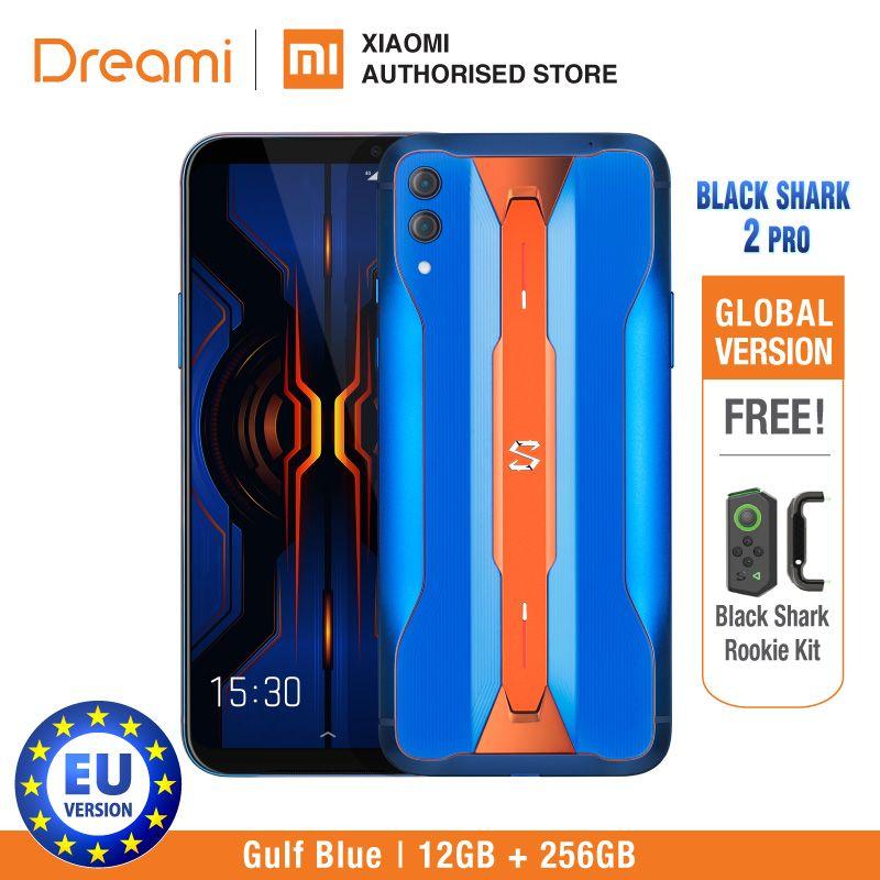 Schwarz Shark 2 PRO 256GB ROM 12GB RAM Schatten Schwarz/Eisberg Grau/Golf Blau (Marke neue und Versiegelt Box) blackshark2pro Blackshark