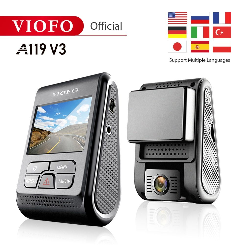 New product Original VIOFO A119 V3 Car Dash Cam Upgrated 2019 Latest Version super night vision 2560*1600P 30fps optional GPS