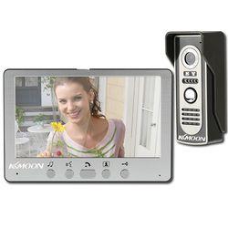KKmoon Visual Intercom Doorbell 7'' TFT LCD Wired Video Door Phone System Indoor Monitor 700TVL Outdoor IR Camera Support Unlock