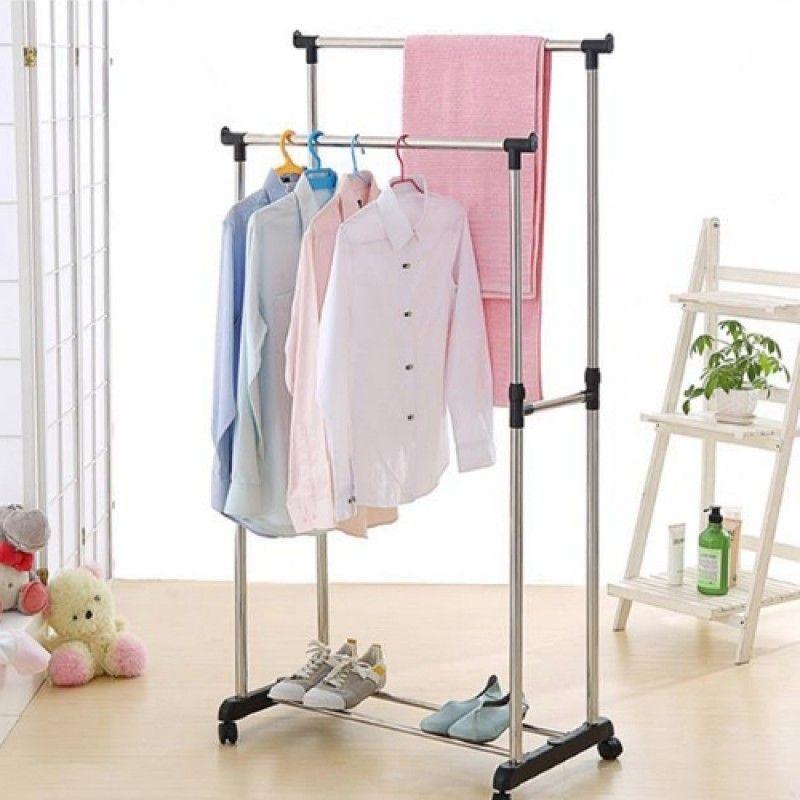 Stehend kleidung rack boden rack verlängerung und mobile muiltifunctional rack auf rädern edelstahl