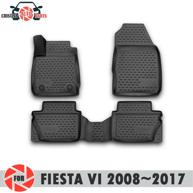 Fußmatten für Ford Fiesta VI 2008 ~ 2017 teppiche non slip polyurethan schmutz schutz innen auto styling zubehör