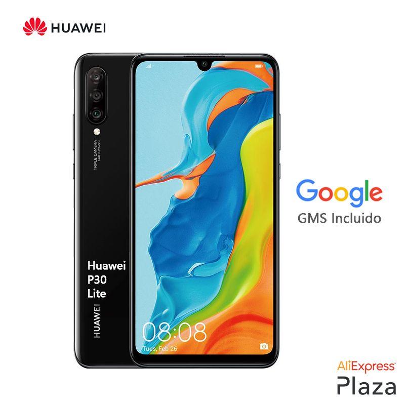 Huawei P30 Lite Smartphone (4 harte GB RAM, 128 harte GB ROM, telefon mobile. Kostenloser, neue, günstige, Google, Android) [Spanisch Version Offizielle]