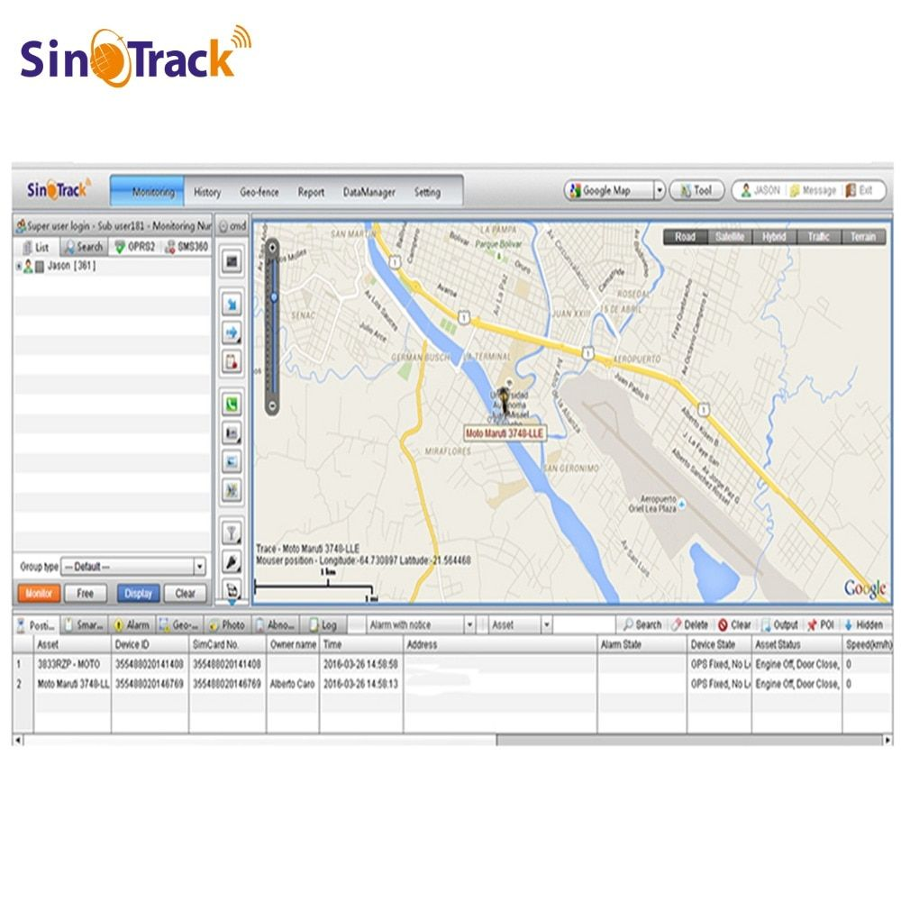 GPS Tracking Software Account of ST-999S www.sinotracking.com