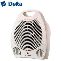 Тепловентилятор DELTA D-802/1, 2000 Вт, корпус из термостойкого пластика, световой индикатор работы, два режима нагрева, холодный обдув, регулировка...
