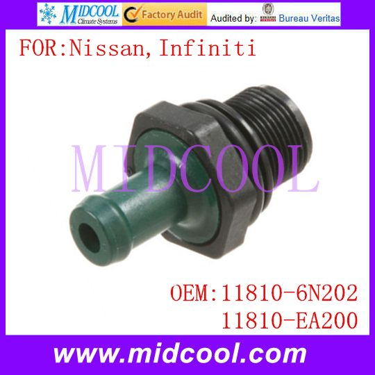 New Auto PCV Valve use OE NO. 11810-6N202 , 11810-EA200 for Nissan Infiniti