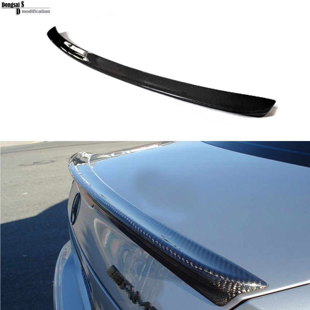 Mercedes W211 AMG style carbon fiber rear wing spoiler trunk boot lip spoiler for benz E class 2003 - 2009 W211 AMG E320