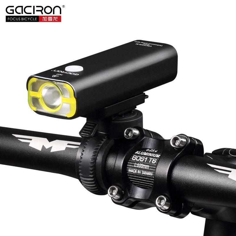 GACIRON Cycling WaterProof led lights usb rechargeable mini bike 400 Lumens <font><b>handlebar</b></font> front light bicycle accessories