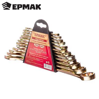 Jeu de clés ERMAK 12 articles (6-22mm) outils clé tournevis cric roues réparation voiture vélo discount 736-080