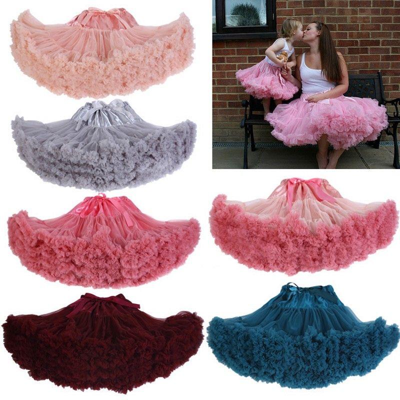 Модные Косплэй пушистые девочка-подросток девушки Очаровательный цвет Рождество юбка-пачка вуаль выступления юбка