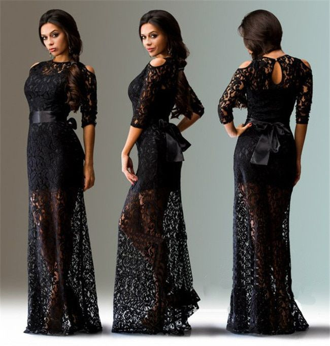 Large beautiful sexy strapless lace dress 2017 elegant long dress with belt summer/autumn new European American Hot L-4XL size