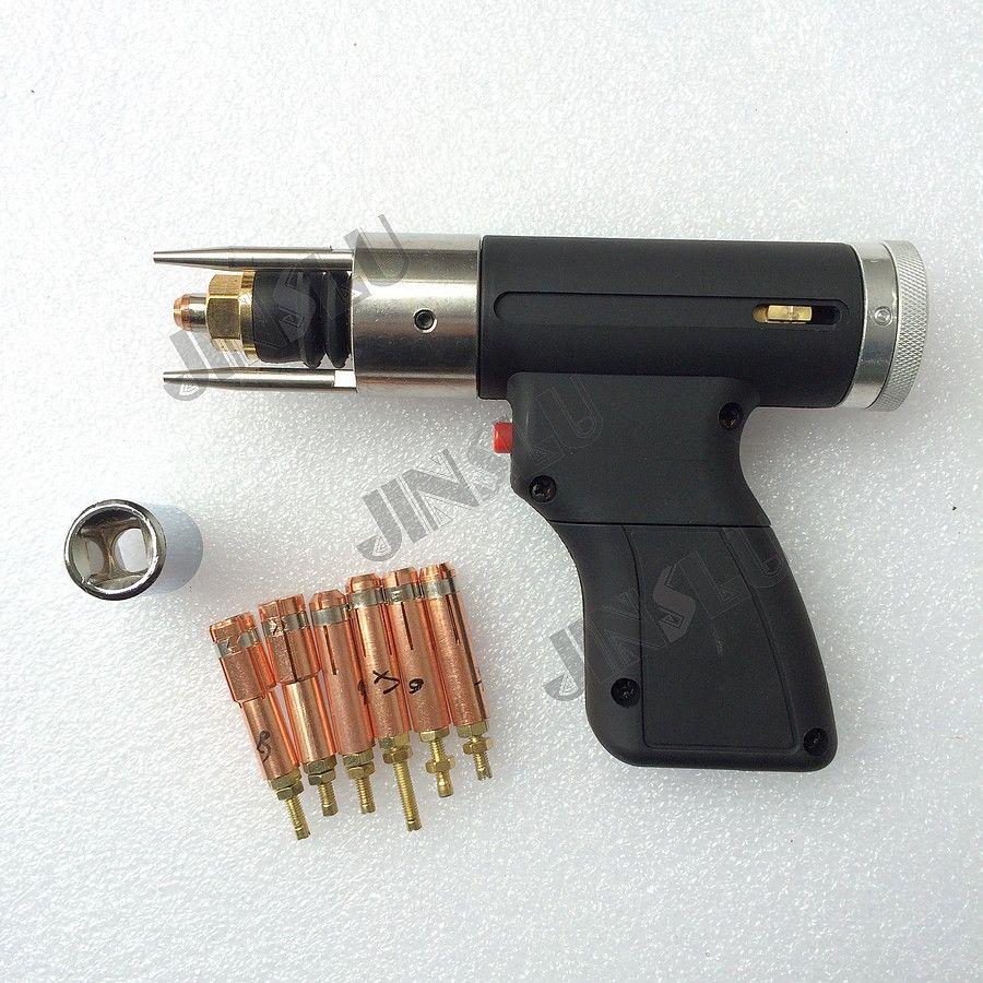 Capacitor Discharge CD Stud Welding Gun Welding Torch M3 to M10 for Stud Welding Free 6pcs Collet welding machine parts