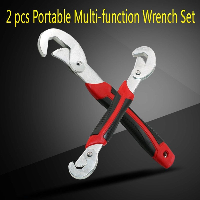 2PC Multi-Function Universal Wrench Set For Nuts and Bolts of All Shapes and Sizes
