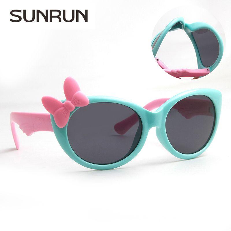 SUNRUN New Enfants Polarisées Lunettes Bébé Enfants TR90 Cadre lunettes de Soleil UV400 Garçon Filles Mignon Cool Lunettes Lunettes S888