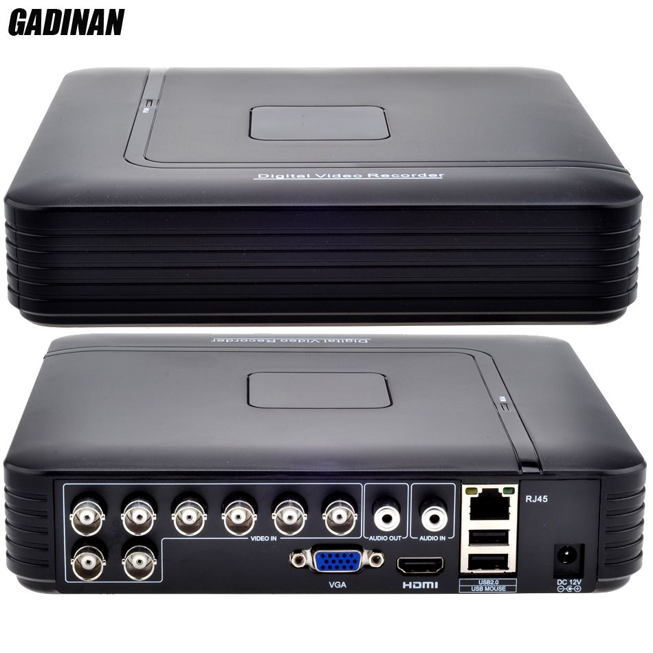 GADINAN AHD 8CH 1080N DVR System ONVIF mini NVR 8CH 5 in 1 TVI CVI AHD IP HDMI H.264 P2P Wolke netzwerk CCTV 8CH AHD DVR