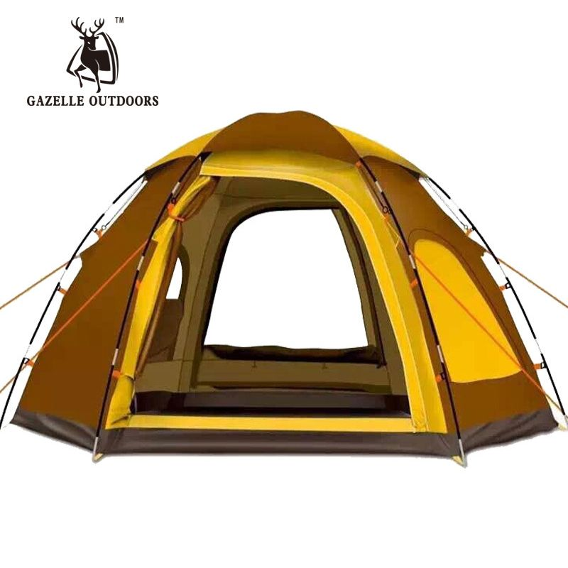 Automatic Outdoor 5-6 Persons Large Camping Tent Waterproof Family Fishing Picnic Tente De Uv Pop Up Awning Bivvy Tarp Shelter