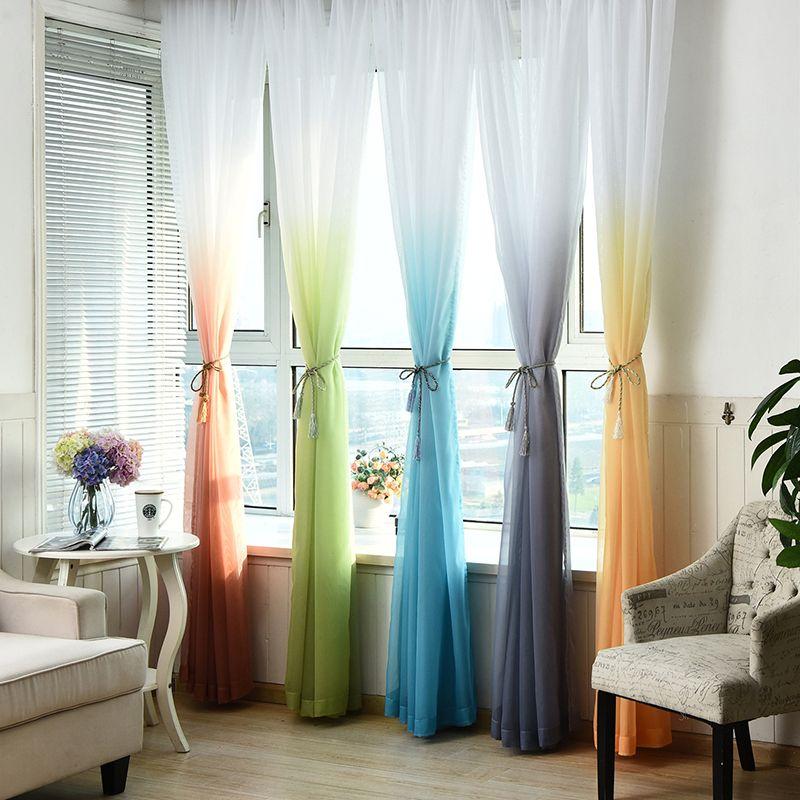 Tulle Rideaux 3d Imprimé Cuisine Décorations Fenêtre Traitements Américain Salon Diviseur Sheer Voile rideau Seul Panneau