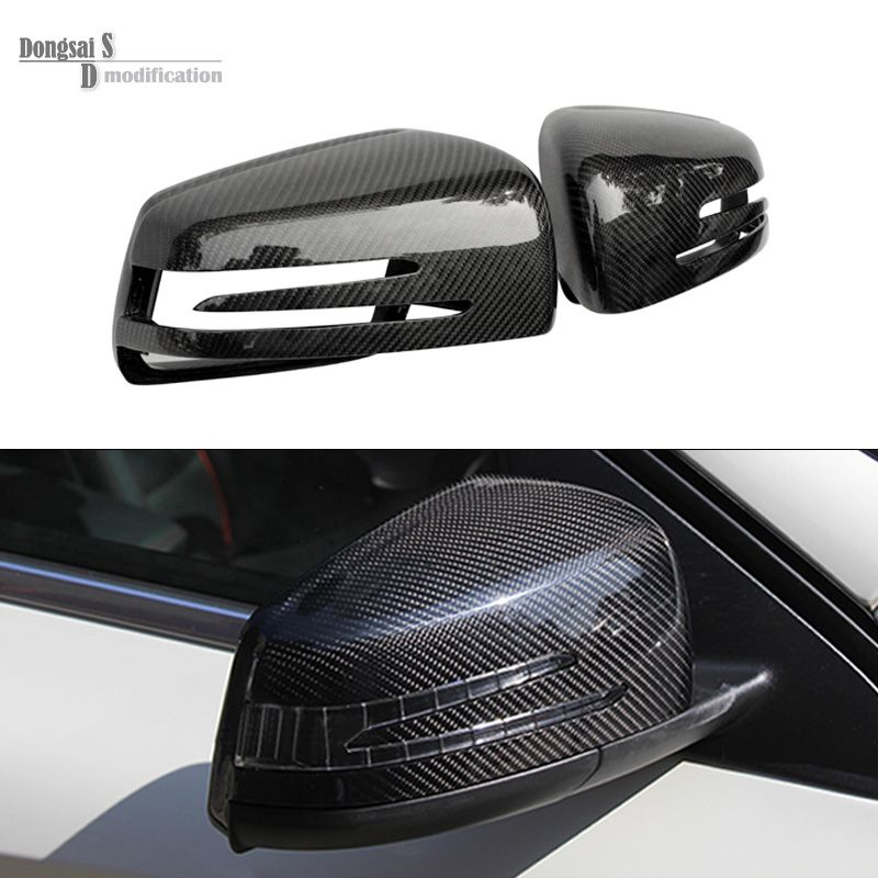 Mercedes w176 w204 w212 w207 w221 w218 LCI W216 replacement carbon fiber side door mirror cover covers for benz A CLA class