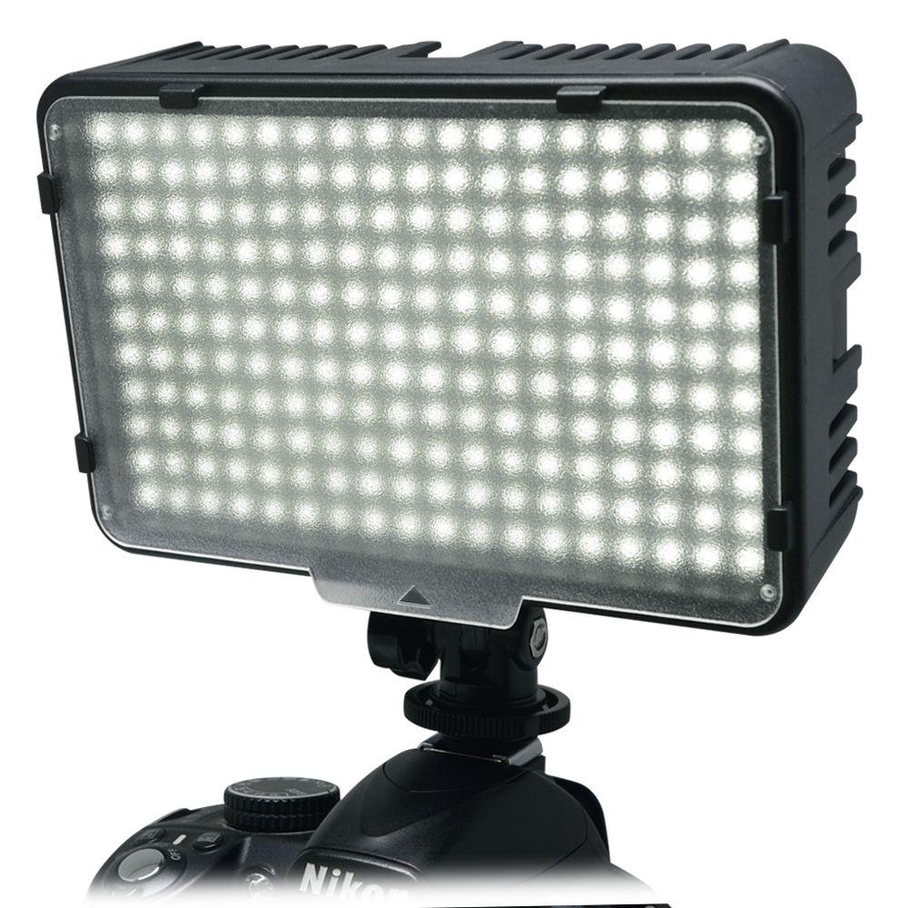 Mcoplus 198 LED Kit de lumière vidéo Ultra haute puissance pour Canon Nikon Pentax Panasonic Olympus & DV caméscope appareil photo reflex numérique