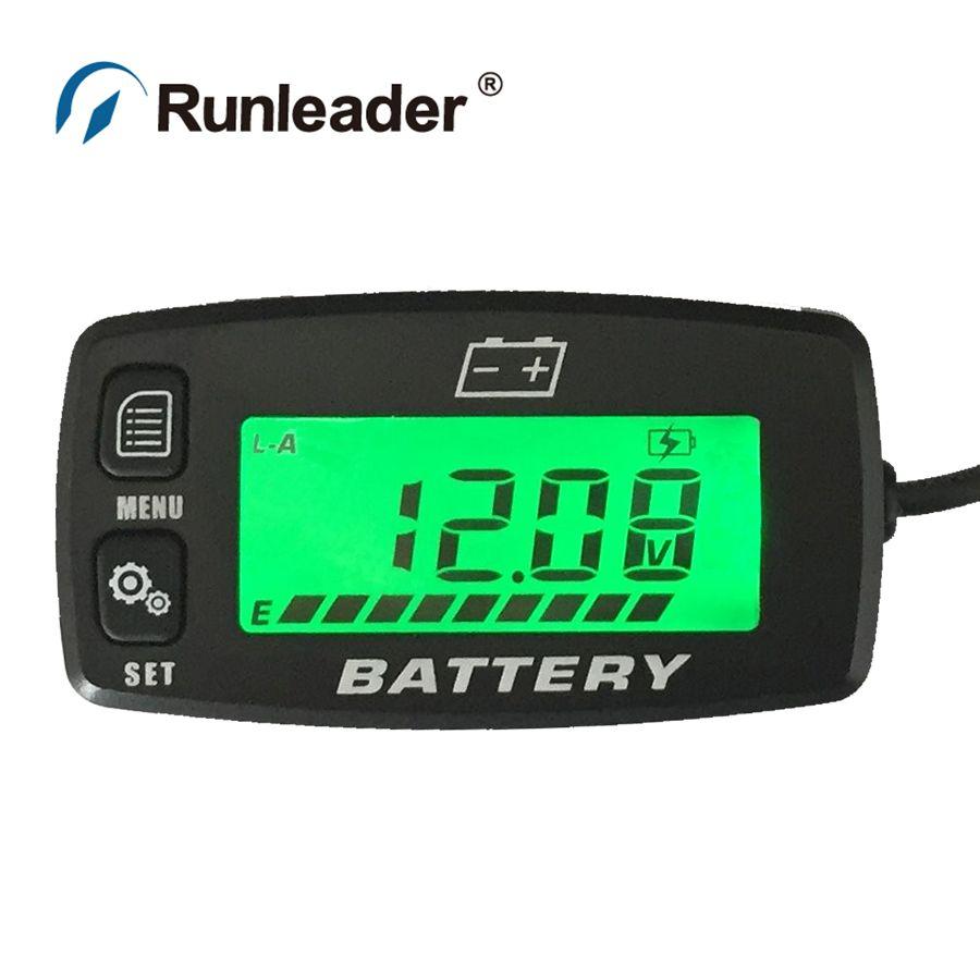 BI008 Battery Gauge battery GEL LiFePO4 AGM VOLT meter battery indicator FOR marine Auto Motorcycle ATV Tractor Trolling Motor