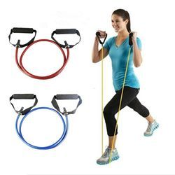 120cm Yoga Pull Rope Fitness Resistance Bands Exercise Tubes Practical Training Elastic  Rope Yoga Workout Cordages 1PC