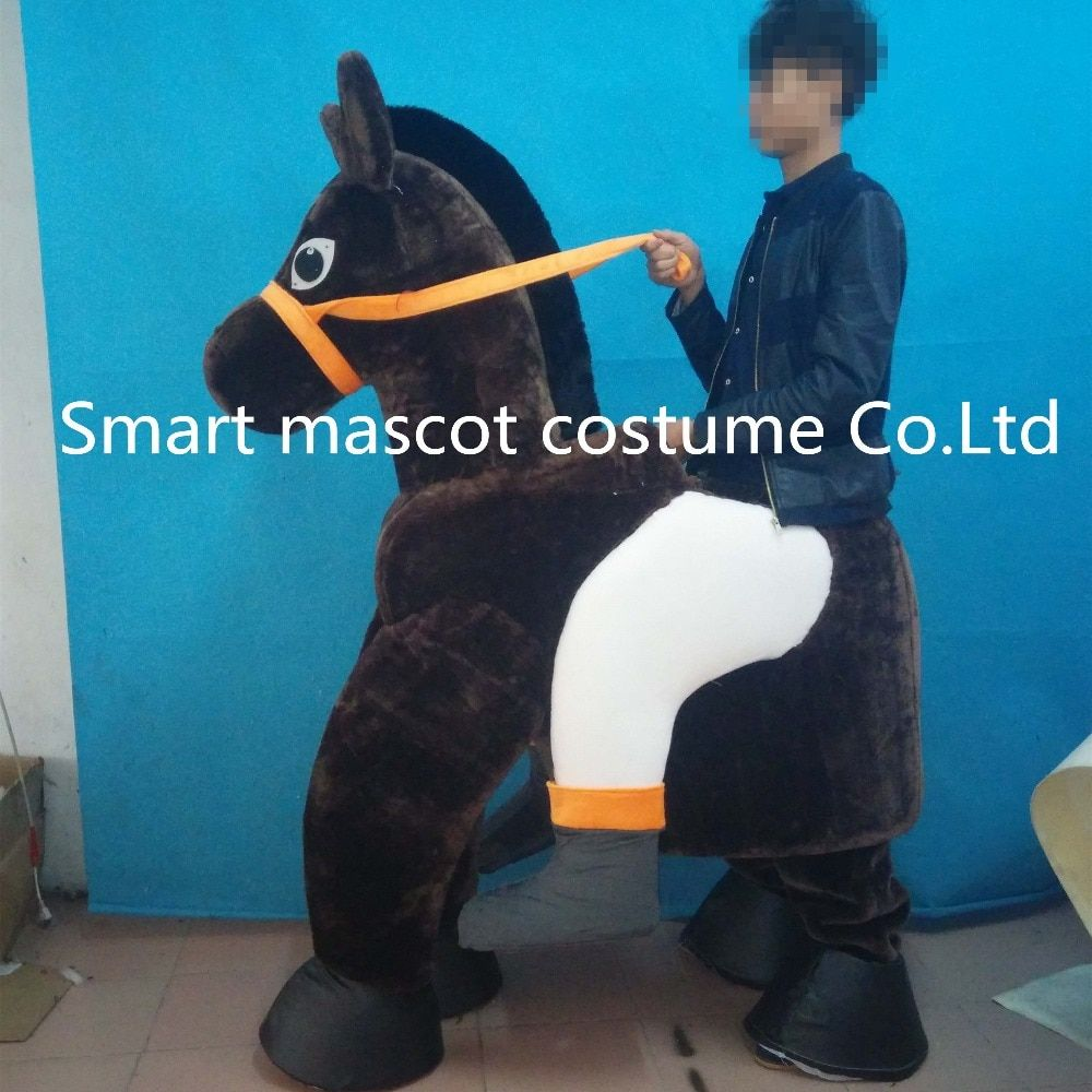 two person wear horse costume 2 persons horse mascot costume for adults