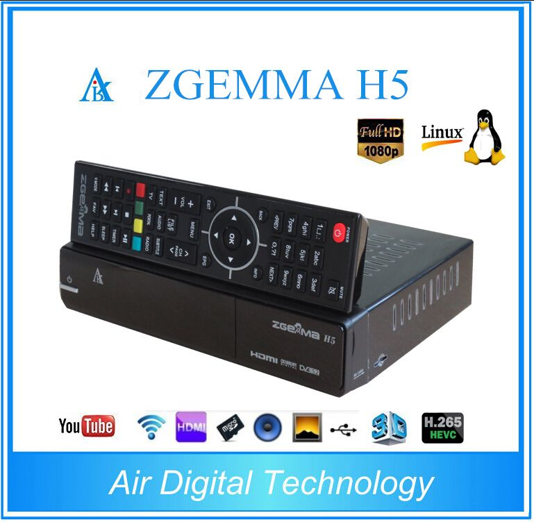 2 teile/los Zgemma H5 Combo DVB-S2 + DVB-T2/C Linux Dual Core Digital TV Receiver HEVC H.265 SET TOP BOX