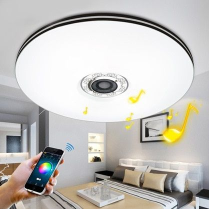 Elinkume Bluetooth mobile phone music Promise dimming LED Ceiling Lights 32W stufenloses Dimmen RGB LED Deckenleuchte Home Lamp