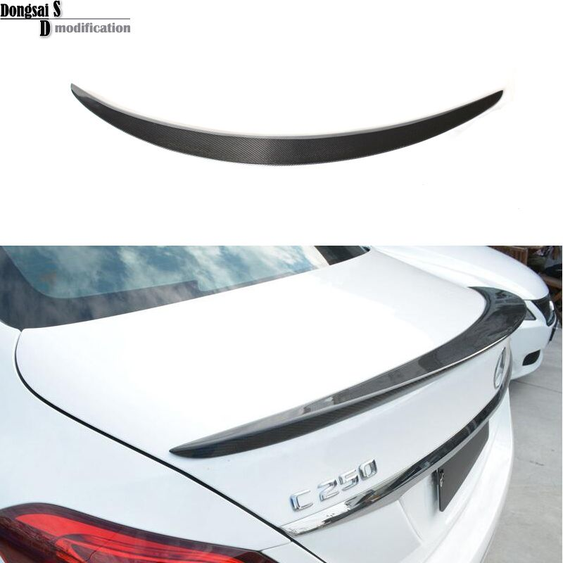 2015 + Mercedes C klasse W205 spoiler flügel carbon fiber hinten heckspoiler für Benz 2015 + c180 c200 c220 c250 c300 c350 4-tür